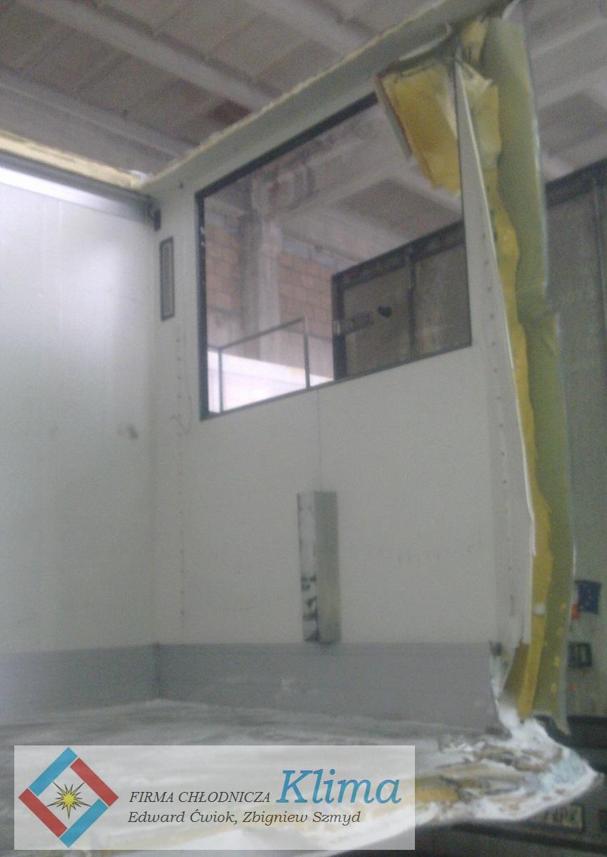 Uszkodzona ściana przednia